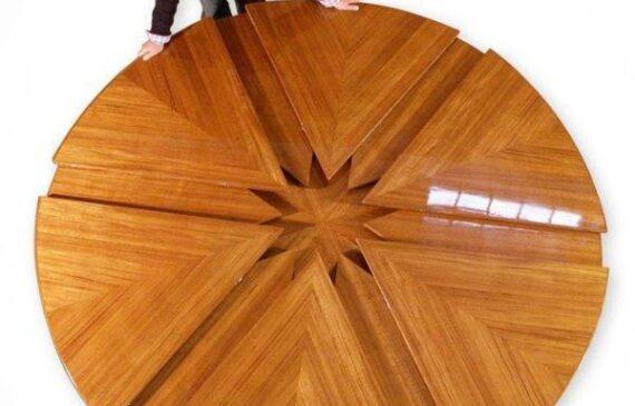 مدل میز ناهارخوری چوبی با طرح و مدل جدید و کمجا