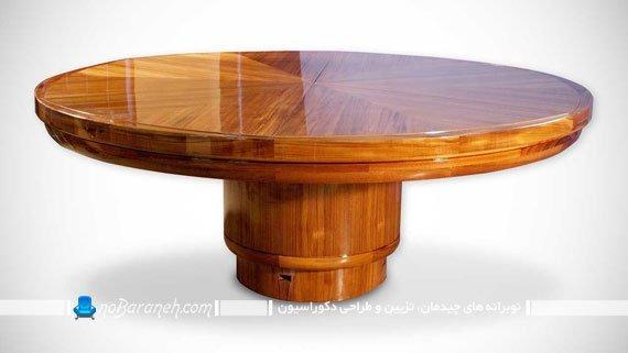 میز ناهارخوری دایره شکل و کمجا