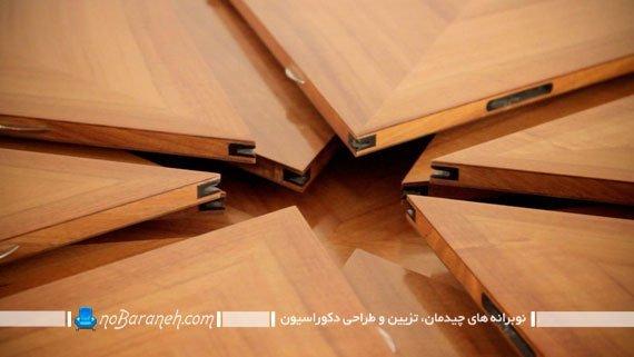 میز ناهارخوری چوبی و کمجا