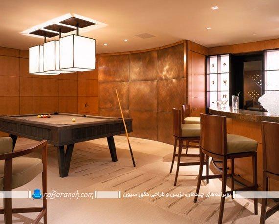 مدلهای فانتزی و سالنی نورپردازی میز بیلیارد. لوستر سقفی برای ورزش های میزی مثل اسنوکر