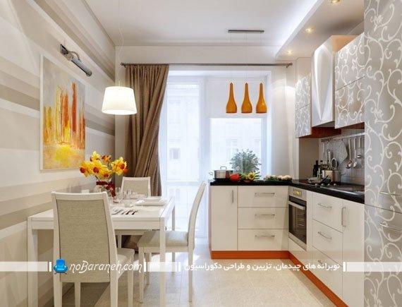کابینت و کفپوش سفید برای آشپزخانه