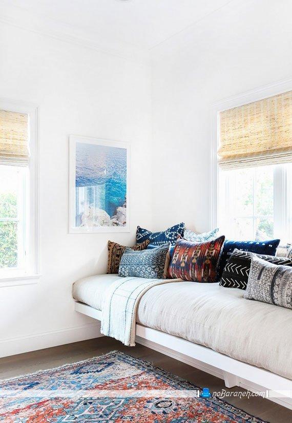 کاناپه یک تکه جادار و تخت شو