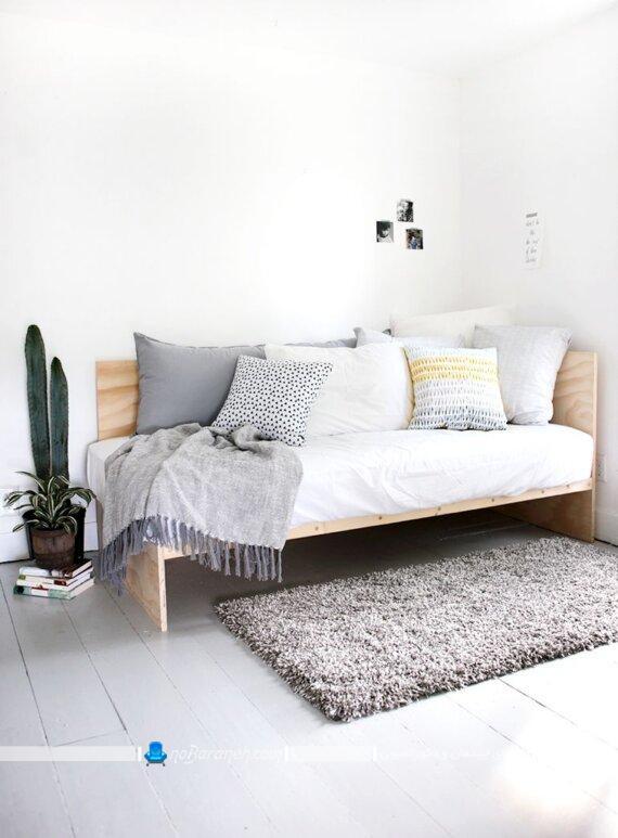 تخت خواب و مبل چوبی نشیمن ساده شیک ارزان قیمت چوبی. مدل های جدید مبلمان کمجا تختخوابشو چوبی ارزان قیمت