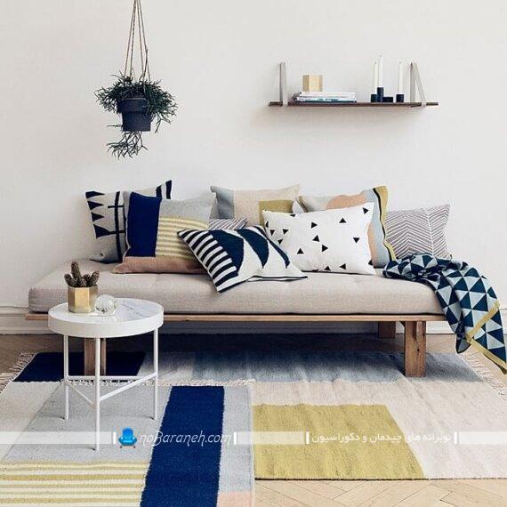 تبدیل تخت کاناپه بدون دسته به تخت خواب. ایده های کارآمد برای خانه های کوچک نقلی آپارتمانی
