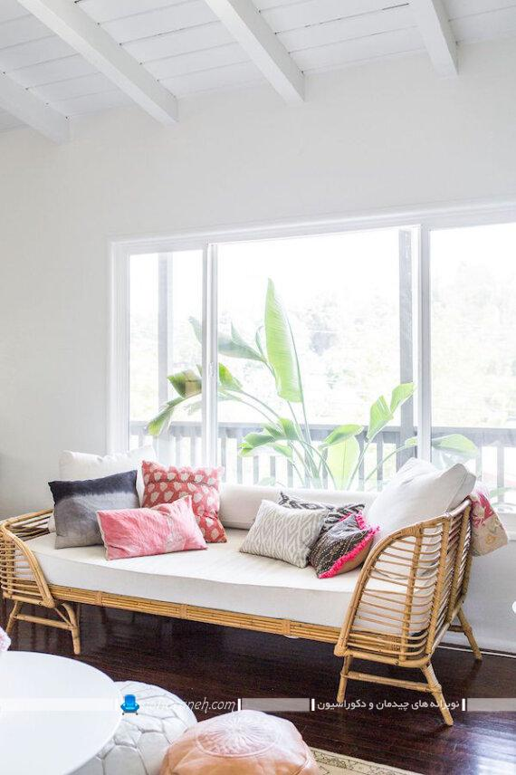 مبلمان دو منظوره با کاربرد تخت و کاناپه. مبلمان های کمجا چند کاره برای خانه های کوچک نقلی