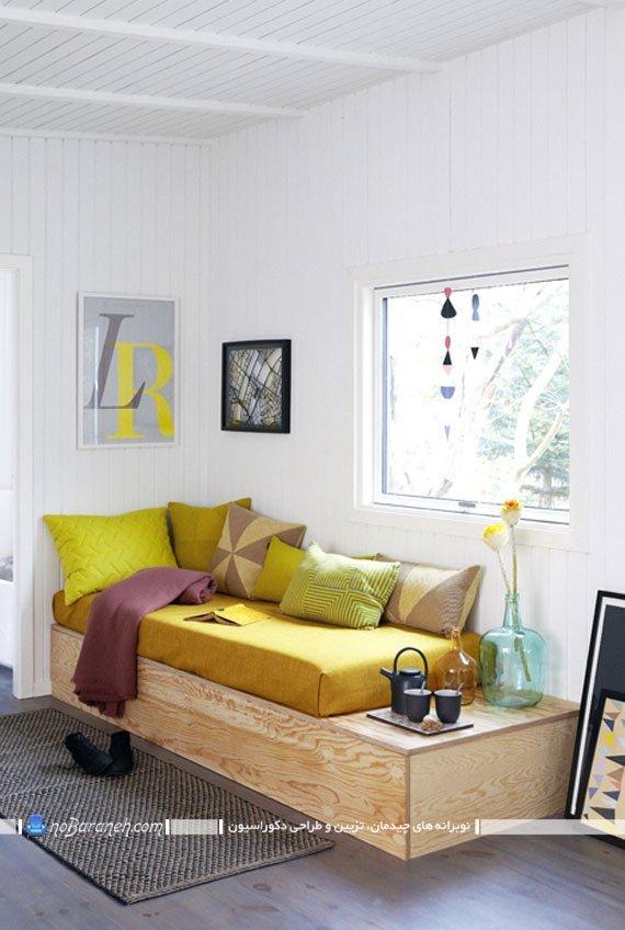 کاناپه چوبی و راحتی با طراحی جدید