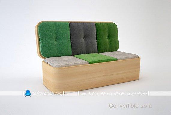 مدل کاناپه کمجا و تاشو برای خانه های کوچک