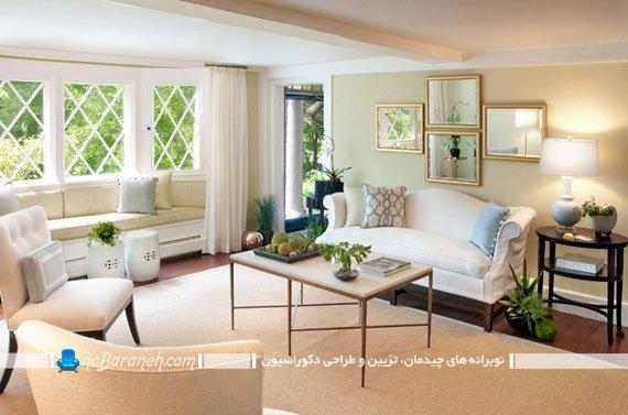آینه کاری ساده دیوارهای منزل به شکل کلاسیک