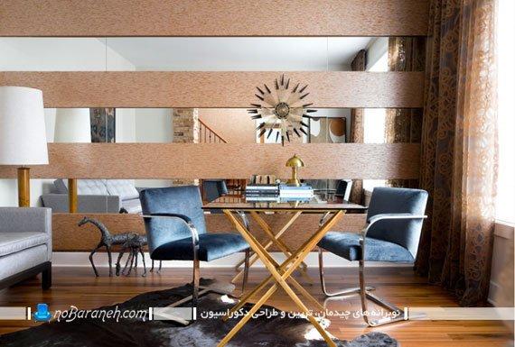 آینه دکوری دیواری و چوبی برای اتاق نشیمن