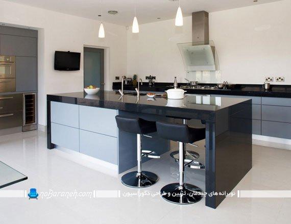 ترکیب سیاه و سفید در دکوراسیون آشپزخانه