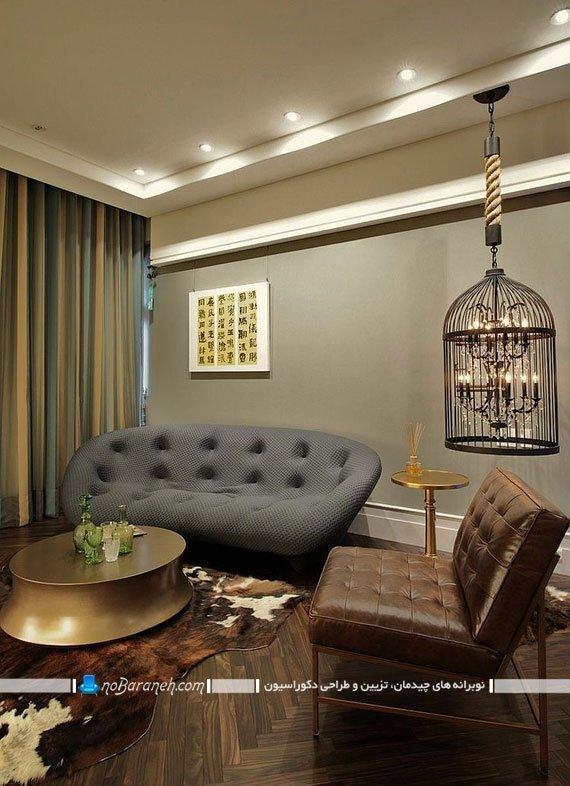 کاناپه راحتی دو نفره با طراحی فانتزی