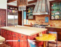 رنگ های شاد و هیجان انگیز در دکوراسیون آشپزخانه