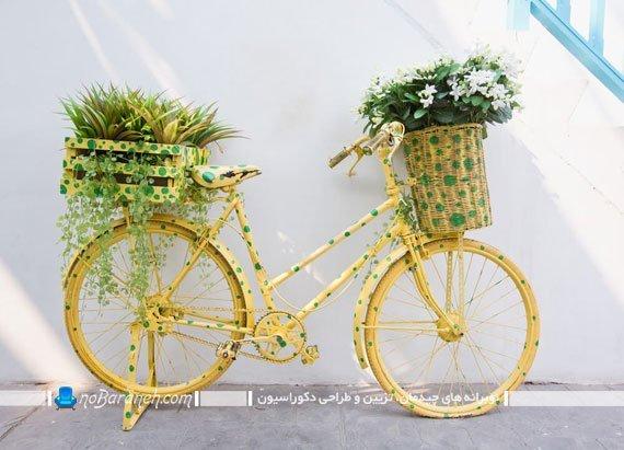 دوچرخه تزیینی برای دیزاین حیاط خانه ویلایی