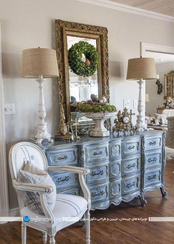 میز کنسول بزرگ با آینه سلطنتی
