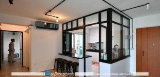 آشپزخانه-اپن-مدرن-بسته-سنتی