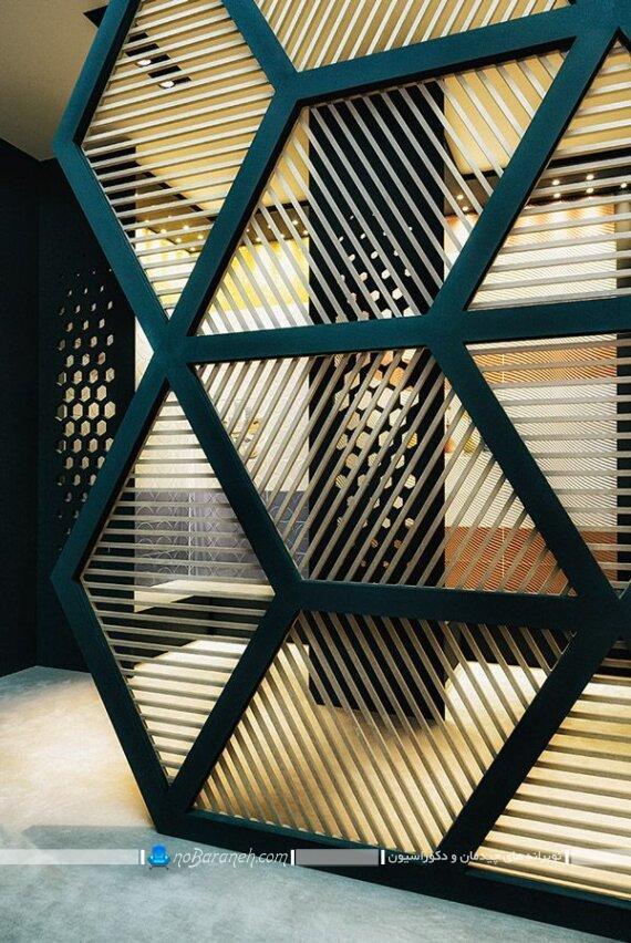 طرح های جدید و لاکچری پارتیشن چوبی. جداسازی فضا و تقسیم فضا در منزل با پارتیشن چوبی نرده ای شیک مدرن فانتزی زیبا.