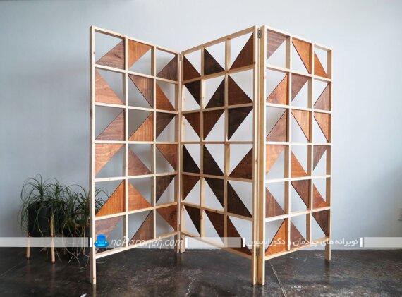 پارتیشن چوبی متحرک و دکوراتیو. مدل و طرح های جدید و شیک پارتیشن چوبی منزل با طرح مدرن فانتزی زیبا