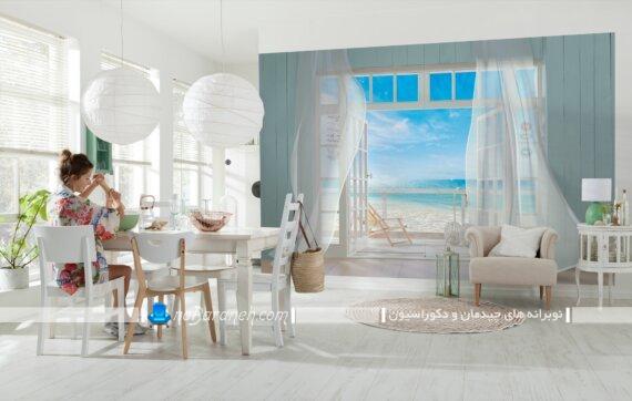 پوستر کاغذ دیواری با طرح مناظر زیبا. تزیین دیوارهای داخلی با پوسترهای دیواری بزرگ طرح طبیعت و منظره. پوستر دیواری ارزان شیک مدرن