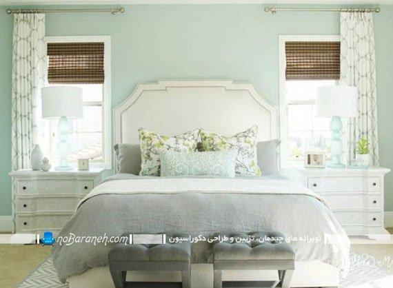 تزیین اتاق خواب عروس با سبز ملایم و روشن