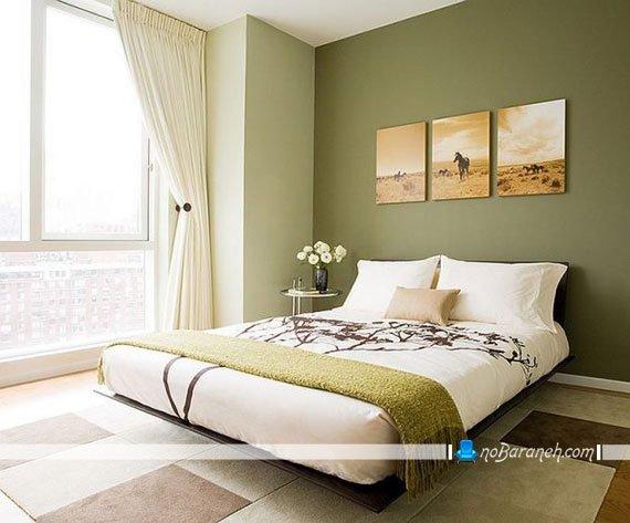 دیزاین اتاق عروس با سبز و یشمی یا زیتونی