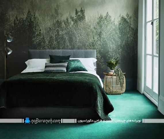 پوستر تزیینی کومار با طرح طبیعت جنگلی در اتاق خواب