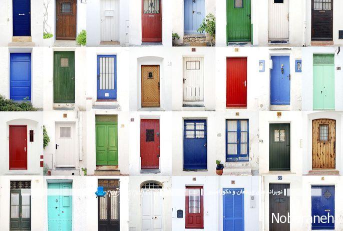 رنگ های متنوع برای درب ورودی منزل