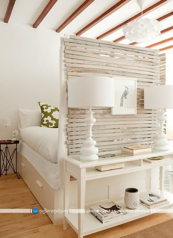 مدل پارتیشن ساده چوبی پاتختی / عکس، پارتیشن جداکننده اتاق