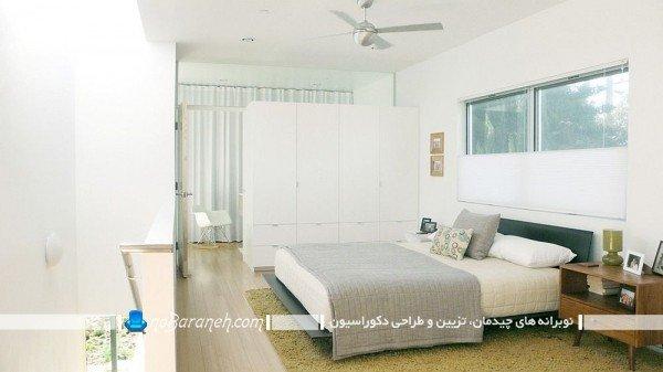 پارتیشن چوبی و کمدی برای اتاق خواب / عکس