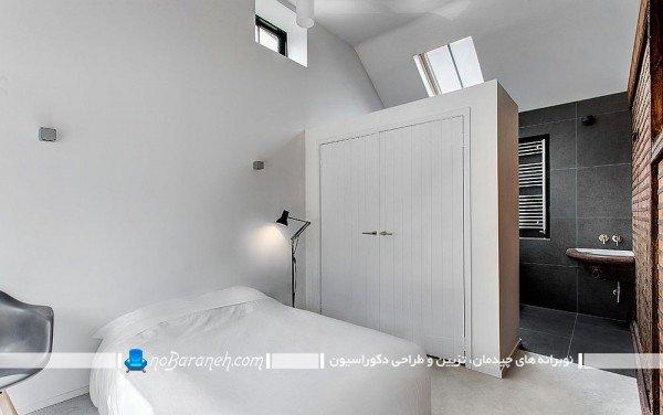 مدل پارتیشن چوبی کمد دار / عکس - پارتیشن اتاق خواب