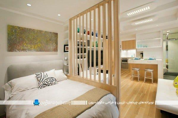 پارتیشن چوبی و نرده ای اتاق خواب / عکس