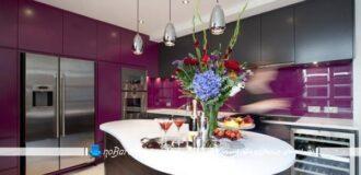 آشپزخانه بنفش رنگ