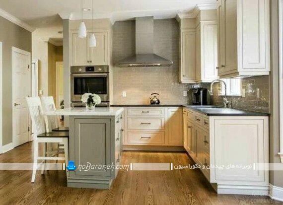میز جزیره کلاسیک ممبران رومی برای آشپزخانه کوچک. مدل جدید میز جزیره کوچک آشپزخانه. میز اپن دو نفره کوچک برای آشپزخانه کوچک