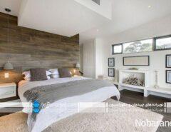 طرح چوب و رنگ سفید برای شیک و زیبا کردن اتاق ...