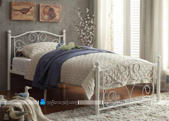 تخت خواب فرفوژه تک نفره و سفید رنگ ارزان قیمت
