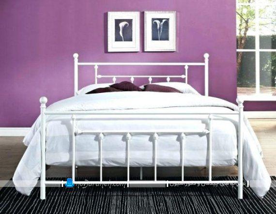 تخت خواب فرفوژه و فلزی دو نفره شیک و مدرن