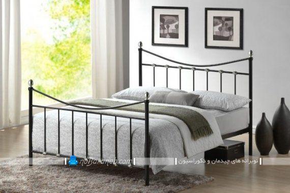 تخت خواب فرفورژه مدرن برای اتاق عروس