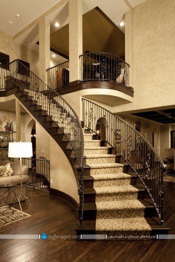 تزیین کلاسیک و سلطنتی پله منزل