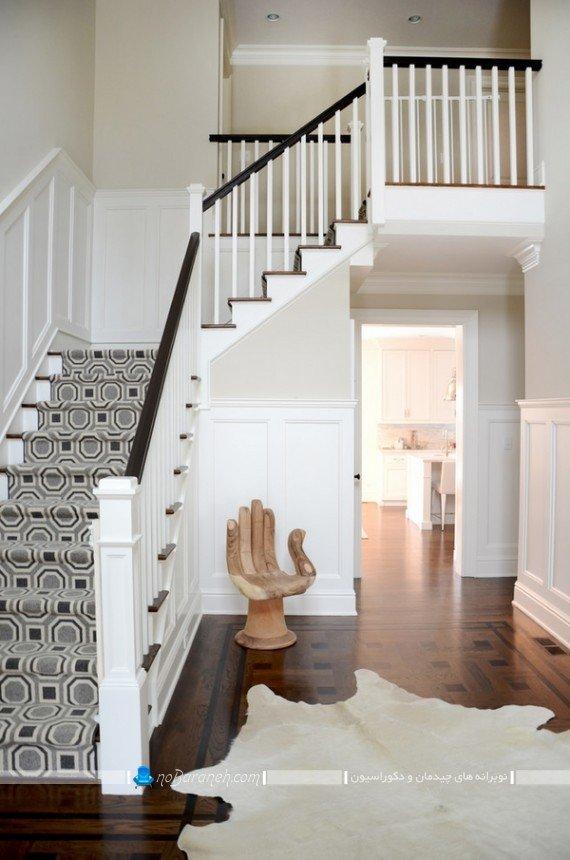 تزیین پله دوبلکس با فرش و موکت