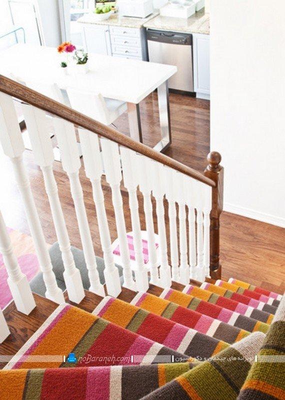 دیزاین راه پله با فرش و موکت