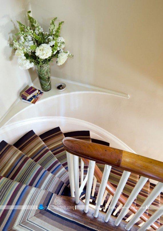 تزیین راه پله با فرش و موکت مدرن