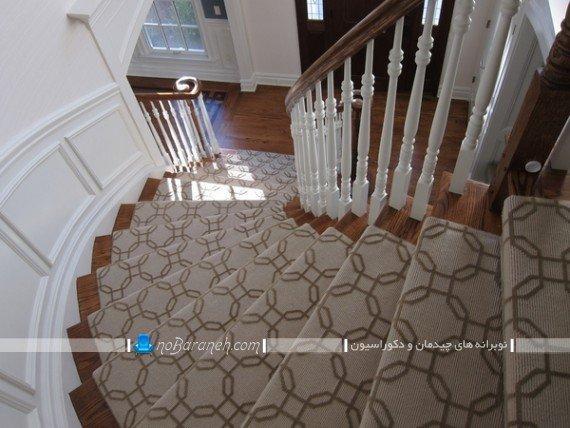 تزیین راه پله با فرش و موکت طرح دار