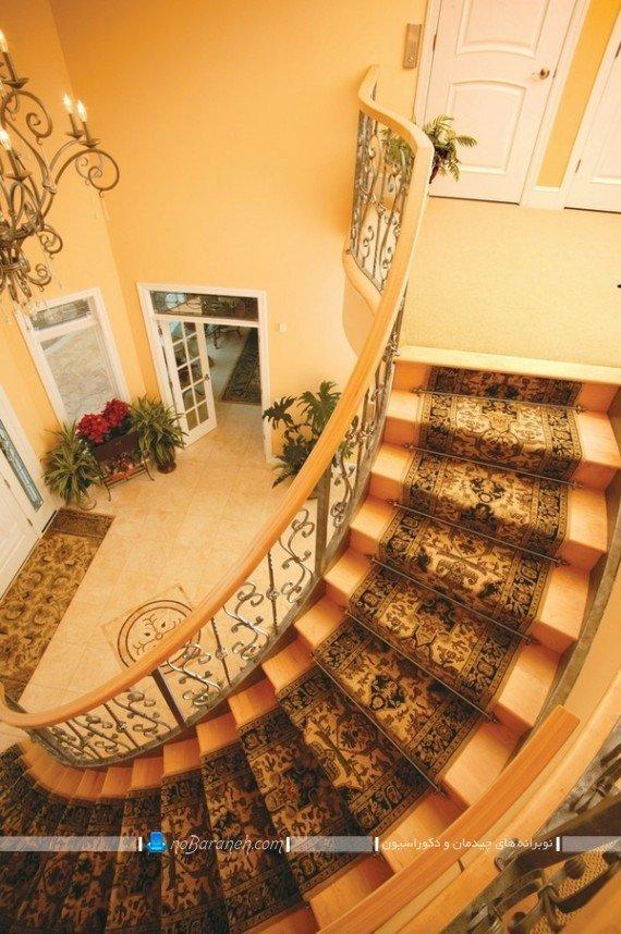تزیین مدرن و جذاب راه پله ها با فرش و موکت