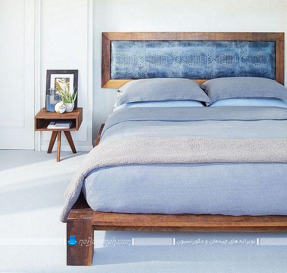 جدیدترین رنگ اتاق خواب عروس. دیزاین اتاق عروس با رنگ آبی و طرح های چوبی. شیک ترین و جدیدترین مدل دکوراسیون اتاق عروس و داماد