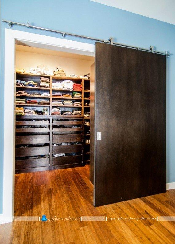 درب ریلی و کشویی چوبی اتاق خواب