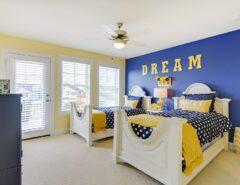 تزیین شیک و زیبا در اتاق بچه ها با ترکیب رنگ ...