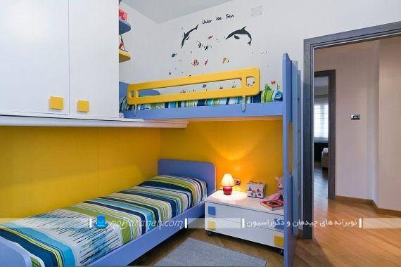 دیزاین شیک اتاق بچه های دوقلو