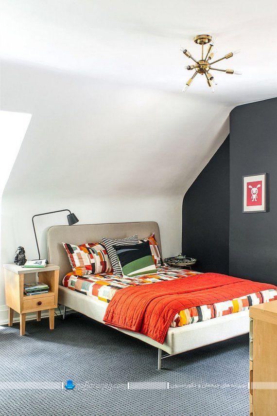 تزیین دیوار اتاق خواب با رنگ سیاه و مشکی و با قیمت ارزان