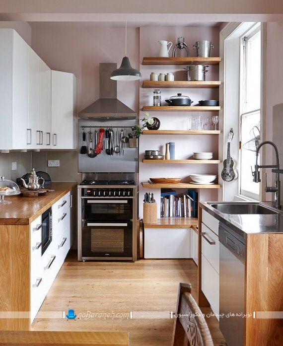 طراحی دکوراسیون چوبی آشپزخانه با کابینت های ارزان قیمت