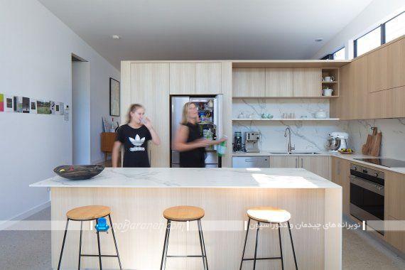 کابینت های ام دی اف برای دکوراسیون مدرن آشپزخانه