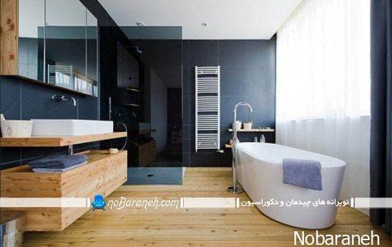 دکوراسیون چوبی حمام و دستشویی (3)